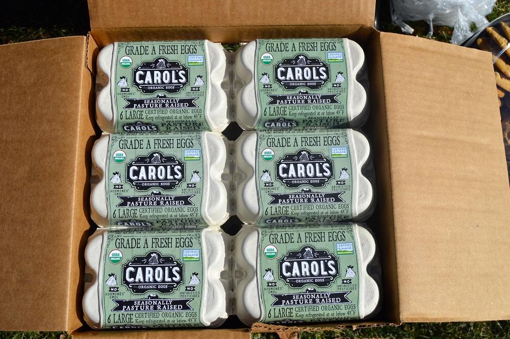 firetree place fresh express box of organic egg cartons