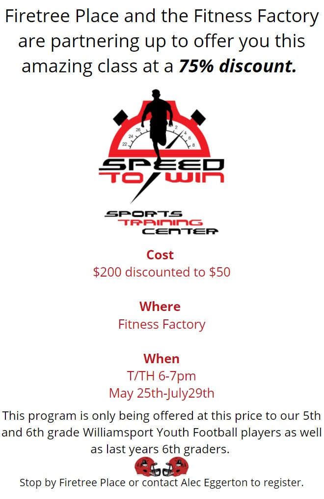 firetree place speed to win flyer with event info