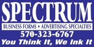 spectrum forms and advertising logo