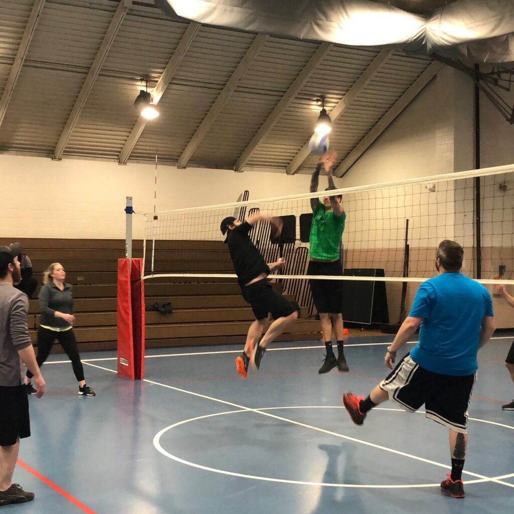 adult volleyball at firetree place